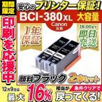 BCI-380XLPGBK 顔料 ブラックx2本 キャノン Canon プリンターインク bci381 bci380 pixus ts8130 互換インクカートリッジ