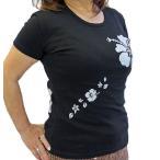 Tシャツ 半袖 レディース ハイビスカス柄 ハワイ フラダンス