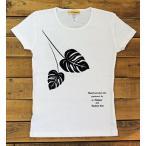 ショッピングリゾート Tシャツ 半袖 レディース モンステラ柄 フラダンス ライン