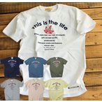 Tシャツ 半袖 メンズ This is the life  Tシャツ  ヘンプ柄