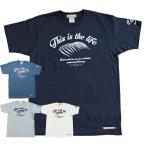 ショッピングアメカジ Tシャツ 半袖 メンズ アスレチック ヤシ柄  ネイビー ロゴ アメカジ