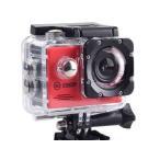 SAC フルHD 1080p アクションカメラ 2インチ液晶 30M防水ケース付き AC200RD レッド