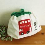 ニコフラート nico hrat ランチ巾着 ロンドンバス柄