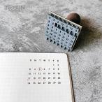 万年カレンダー ハンコ 水縞スタンプ【メール便不可】