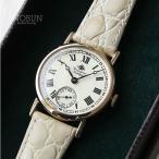 ロゼモン 腕時計 Nostalgia Rosemont N008-YWR BWH ゴールド/ホワイト(ベルト)【メール便不可】