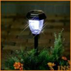 ソーラーライト LED ガーデンライト 充電式 パルス式 LED4個使用 GSL-P4W ホワイト 防犯 アイリスオーヤマ