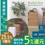 カラーボックス 2段 扉付き 収納ボックス 収納 モジュールボックス 扉付 MDB-2D アイリスオーヤマ