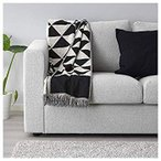 IKEA/イケア JOHANNE:ひざ掛け130x170 cm ブラック/ナチュラル (003.929.32)