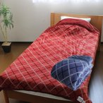 昭和西川 衿付き2枚合わせ綿入り毛布 【送料無料】