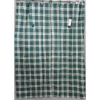 Yahoo!インテリアいちたやのれん 暖簾  タペストリー  間仕切り   ループスタイルチェック  約幅120〜150x150cm  グリーン
