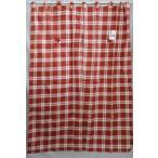Yahoo!インテリアいちたや★在庫4枚★のれん 暖簾  タペストリー  間仕切り   ループスタイルチェック  約幅120〜150x150cm  レッド