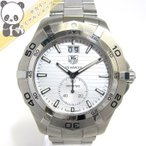 ショッピングタグ TAG Heuer アクアレーサー メンズ腕時計 グランドデイト スモールセコンド クオーツ 文字盤シルバー WAF1015 【送料無料】【メンズ】【watch】