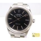 ROLEX エアキング 14000 オートマチック SS U番 ブラック文字盤 メンズ腕時計