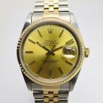 ROLEX デイトジャスト 16233 S番 メンズウォッチ 腕時計 シャンパン文字盤 【新品仕上げ済み】【美品】【メンズ】【Watch】.【z80512*siu20n】
