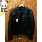 ショッピングハーレーダビッドソン Harley-Davidson ハーレーダビッドソン スカル シングル ライダースジャケット ブラック メンズ サイズ表記L 【中古】[wa][GJ]【ir】