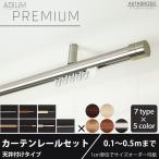 カーテンレール シングル アイアン 天井付けセット ADIUM PREMIUM 0.5〜1mまで