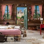 輸入壁紙 だまし絵 クロス ドロミテの見える部屋 ドイツ製/8-955 Dolomite ドロミテ 368cm×254cm 北欧