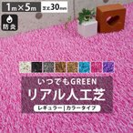 人工芝 庭 ガーデン いつでもGreen レギュラータイプカラー30mm 1m×5m