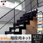 Interior Depot インテリアデポで買える「NET15 防球ネット 防鳥ネット 防犯用ネット 階段ネット おしゃれ 黒 落下防止 カラー 巾201〜300cm 丈101〜200cm」の画像です。価格は8,629円になります。