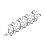 カーテンレール 部品 TOSO 連結Cランナー(8ケ連結) 部品販売