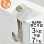 フック なげし壁フック 石膏ボード用 木壁 両用 2個入り ピンタイプ ( ピンフック 石膏ボード 石膏 木壁 ベニヤ 壁 )
