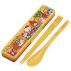 コンビセット 箸・スプーン サンリオ キャラクターズ70s 音の鳴らないクッション付 18cm ( 子供用お箸 食洗機対応 はし )