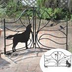 シルエットゲート Tree&Dog Tree&Cat ( 送料無料 柵 ゲート 仕切り 折りたたみ式 エクステリア おしゃれ 衝立 犬 DOG 猫 ネコ CAT セトクラフト )