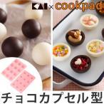 チョコレート型 抜き型 トリュフも作れるチョコカプセル型 シリコン製 ( チョコ型 トリュフ お菓子作り チョコレート )