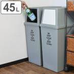 ショッピングごみ箱 ゴミ箱 分別 積み重ねゴミ箱 スリム 45リットル ( ごみ箱 ふた付き ダストボックス スタッキング )