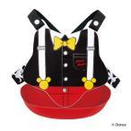 エプロン ベビー ミッキーマウス バッククロス ポケット付き プラスチック ( ビブ 1歳半〜 ベビーエプロン 背中 紐 お食事エプロン 赤ちゃん キャラクター )
