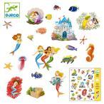 シール セット マーメイド 2種類 子供 おもちゃ 知育 ジェコ ( DJECO 人魚 手紙 手帳 子ども キッズ )