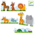 パズル スモール&ビッグ 10ピース おもちゃ 知育玩具 ジェコ DJECO ( 3歳 幼児 オモチャ 玩具 動物 どうぶつ 知育 キッズ 3才 )