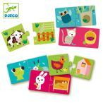 パズル 動物 2ピース 幼児 知育玩具 おもちゃ ジェコ ハビタット ( 2歳 子ども オモチャ ジェコ DJECO )