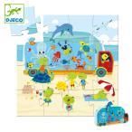 パズル 水族館 16ピース ジグソーパズル 幼児 知育玩具 おもちゃ ジェコ アクアリウム ( 3歳 子ども オモチャ ジェコ DJECO )