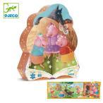 パズル 三匹のこぶた 24ピース ジグソーパズル 幼児 知育玩具 おもちゃ ジェコ ( DJECO ケース付き 62×20cm 子供 )