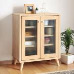 キャビネット 本棚 北欧風 シンプルデザイン 幅60cm ( サイドボード 収納棚 リビングボード )