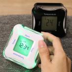 置き時計 ライト付き 多機能 温度計 日付 タイマー アラーム くるりんクロック&タイマー4 ( デジタル 時計 置時計 インテリア 雑貨 )