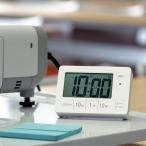 【週末限定クーポン】置き時計 目覚まし時計 消音機能 ライト デジタル 連続秒針 タイマー ( 時計 置時計 インテリア 雑貨 )