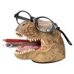 デスクキーパー ペン立て メガネスタンド 文房具 ティラノサウルス 恐竜 ( 文具 眼鏡スタンド めがねスタンド )