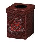 ゴミ箱 ダストボックス 木製 レジ袋対応 木製 鎌倉彫 手彫り 和風 ( ごみ箱 和室 くず入れ 屑入れ )