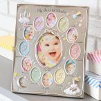 フォトフレーム 12か月 壁掛け 卓上 13枚 LUNA 写真立て赤ちゃん ( 写真 額 多面 壁掛 丸 月齢フォト フォト フレーム )