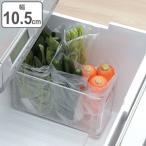 冷蔵庫 収納ケース 野菜室・冷凍室収納トレー スリム SKIT ( 収納トレー 冷蔵庫収納 冷蔵庫トレー 収納ボックス 収納ストッカー ストッカー 深型 )