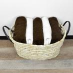 ソフトバスケット メイズ 楕円型 持ち手付き ( 天然素材 ランドリーバスケット 洗濯かご )