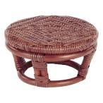 籐 正座椅子 丸型 ラタン製 SZ202D 直径22.5cm ( ラタン家具 アジアン家具 座椅子 座いす 椅子 イス いす )