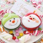 キャンドル クリスマスカップケーキ サンタクロース スノーマン 2個組 ( クリスマスキャンドル ろうそく ロウソク )