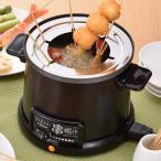 電気式 卓上 串揚げ鍋 天ぷら鍋 自動油温調節レバー付き