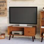 テレビ台 ローボード 北欧風 天然木 ココア 幅80cm ( テレビボード TVボード TV台 AV収納 AVボード )