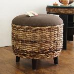 スツール 丸型 アジアン家具 Banana Leaf 直径41cm ( オットマン 椅子 イス ラウンドスツール 脚付き アジアン バナナリーフ )