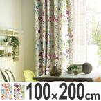 カーテン スミノエ ドレープカーテン Naturalplus フローラルガーデン 100x200cm ( タッセル 洗える 既製 )
