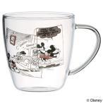 マグカップ 耐熱ガラスマグカップ ミッキーマウス コミック ( ガラス製 ガラスコップ 耐熱ガラス製 )